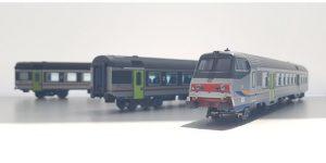 VITRAINS H0 1119 – Set MDVE 3 pz – 1 pilota Mazinga e 2 carrozze 2 cl – Livrea DTR FS Ep VI