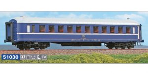 ACME H0 51030 – Carrozza Letti ex CIWL, tipo Ub Livrea Pool TEN – FS Ep. IV