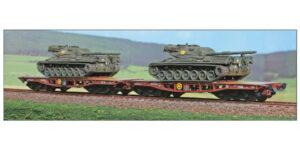 ACME H0 45109 – Set 2 carri Rlmmp-t caricati con carri armati Leopard – FS Ep. IV-V