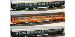 PIRATA H0 PI90306 – ADRIA Express 76′ set 3 carrozze UIC-X – OBB Ep. IV