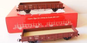 ATM TRENI H0 CF 12.007 – Set 2 carri tipo LL (1936) – FS Ep. III