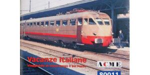 """ACME 80011 – Libro """"Vacanze Italiane"""" Viaggiando in treno per il Bel Paese di David Jelercic"""