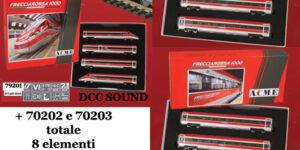 ACME H0 Set ETR 400 Frecciarossa 1000 (8 elementi) DCC SOUND – FS Trenitalia Ep. VI