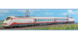ACME H0 70091 – FS ETR Frecciabianca set con 2 locomotive (1 dummy) e 2 carrozze – Ep. VI