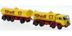 """PIRATA PIBK 58454 – FIAT 690 cisterna con rimorchio """" SHELL """" – 1:87 *NEW*"""