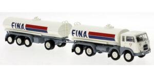 """PIRATA PIBK 58455 – FIAT 690 cisterna con rimorchio """" FINA """" – 1:87 *NEW*"""